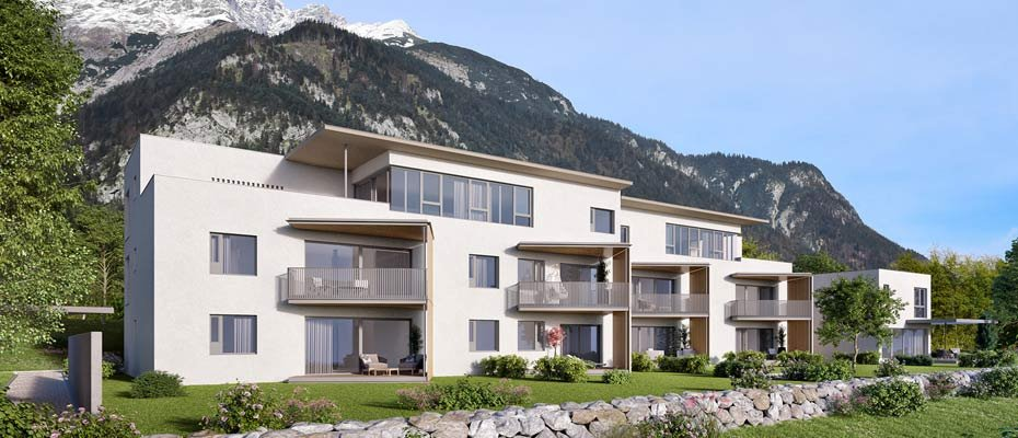 """Neu in Innsbruck: Wohnanlage """"fein wohnen"""" Kranebitten - Neubau von 11 Eigentumswohnungen"""