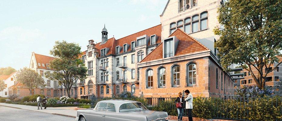 Neu: Leben zwischen 2 Epochen – Charlottes Garten - Neubau von 72 und Kernsanierung von 62 Eigentumswohnungen