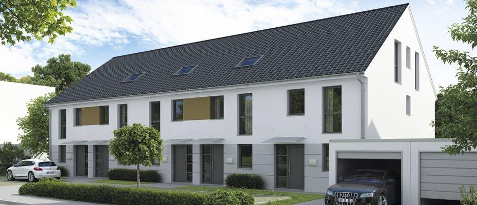 Optimaler Wohnkomfort mit 5 Zimmern: Niedertal III  - Attraktive Reihenhäuser für die ganze Familie bietet Hermann Immobilien in Langenselbold an. Die Häuser verfügen über eine Wohnfläche von ca. 134 - 140 m² und sind gehoben ausgestattet. Helle und lichtdurchflutete Zimmer, ein Tageslichtbad und ein Gartenanteil sind komfortable Details.