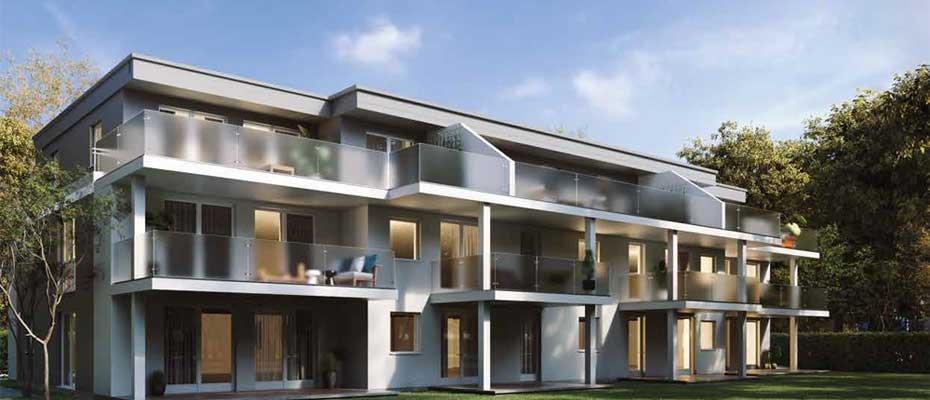 Moderne Architektur: ViaClaudia Terrassen in Untermeitingen - Neubau von 11 Eigentumswohnungen