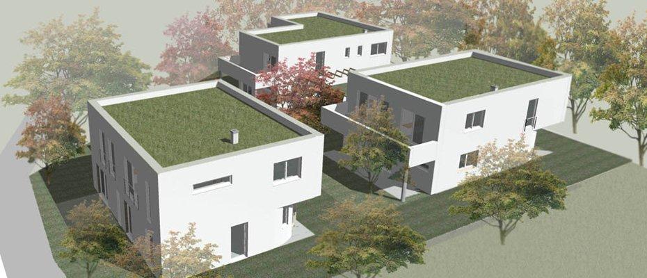 Neu: grüne Stadtrand-Oase in Oberbrunnenreuth – Heckenweg 4 - Neubau von 3 Einfamilienhäusern