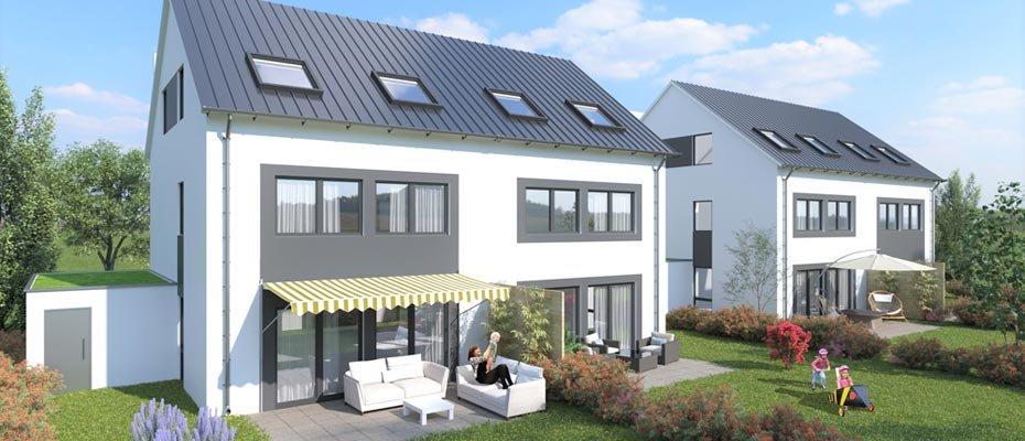 Neubauprojekt: Zum Langwieser See 4-10 in Plieningen - Neubau von 4 Stadthäusern