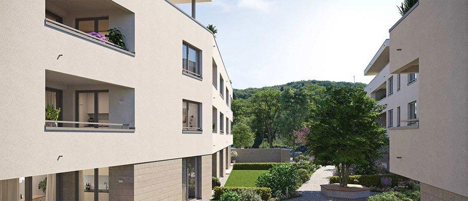 Das Ensemble Staufen: Neue Eigentumswohnungen - Neubau von 34 Eigentumswohnungen