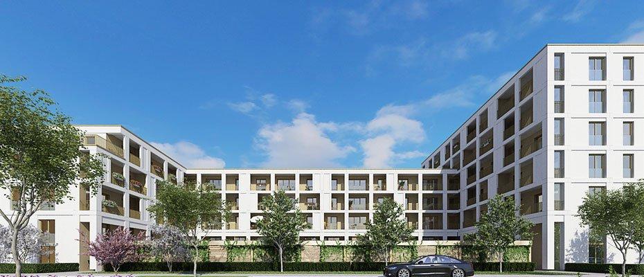 Wohnen an der Universität: Otto-Hahn-Straße 1 - Neubau von 89 Eigentumswohnungen