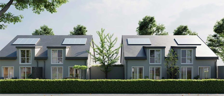 Neubauprojekt: DOMUS Vita Untermeitingen - Neubau von 4 Doppelhaushälften