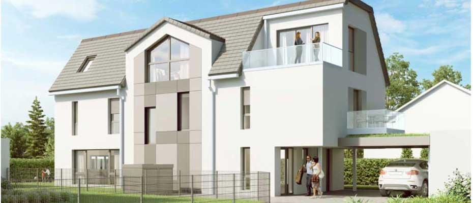 Dachgeschoss-Maisonettewohnung in Hemmingen: Göttinger Landstraße - Neubau von 1 Eigentumswohnung