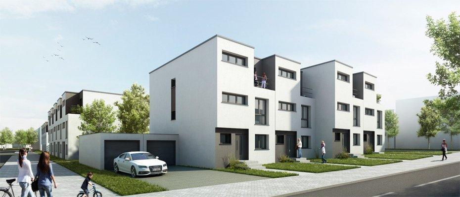 Neue Stadthäuser in Düren: Cranachquartier - Neubau von 33 Stadthäusern