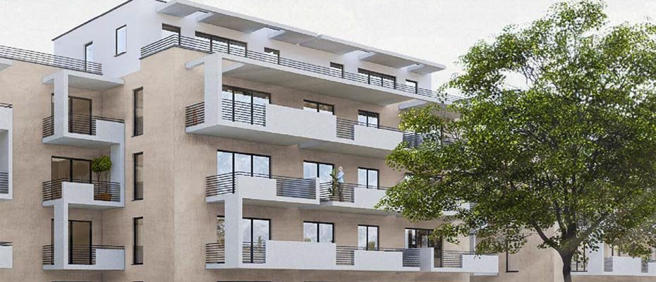 Neubau in der Werderstraße 22 - Neubau von 68 Eigentumswohnungen