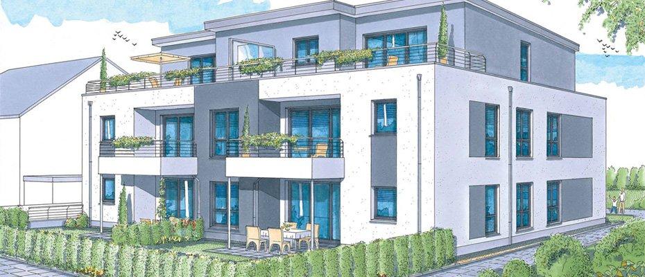 Millrather Weg 60: architektonisch ansprechend - Neubau von 6 Eigentumswohnungen