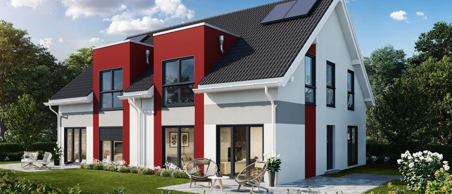 Neubauprojekt: Hauptstraße 14 Altenmünster - Neubau eines Doppelhauses
