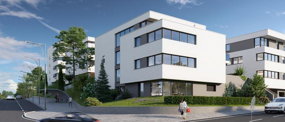 Neu in Bietigheim-Bissingen: Hölderlin Höfe - Neubau von 50 Eigentumswohnungen und 2 Doppelhaushälften